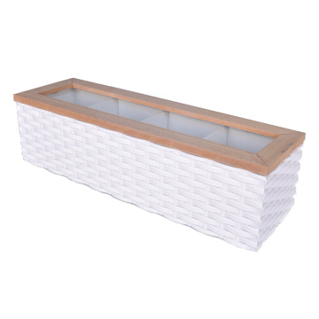 China for Suede Jewelry Box Home Jewelry Box Long 4 Compartment supply to Japan Manufacturer