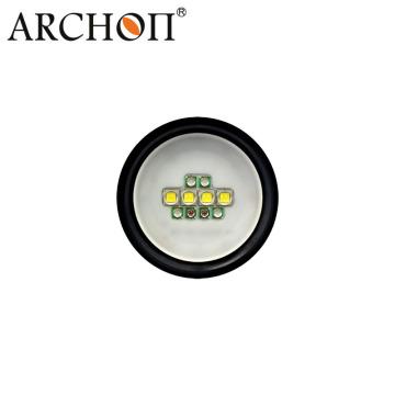 100m imperméable à l'eau Alminum LED Plongée Lampe de poche 2600lumen Vidéo Light W40V