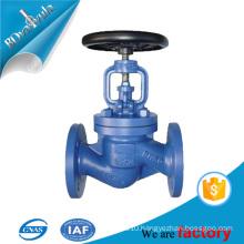 DIN standard bellows seal globe valve pn16