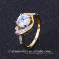 guangzhou jewelry latest gold ring designs fire opal rings with high quality
