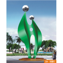 2016 New High Quality Fashion Urban Statue Outdoor Decoration/Modern Garden Sculpture 304 Stainless Steel Statue
