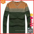 New fashion long arm sweater jacquard pattern wool knitwear and sweater