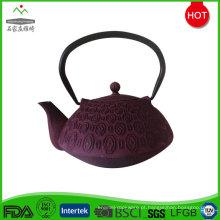 Feita na China personalizado esmalte revestimento panela de chá de ferro fundido