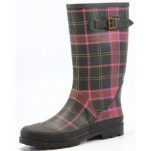 Colored Lattice Women's Winter Rubber Boots