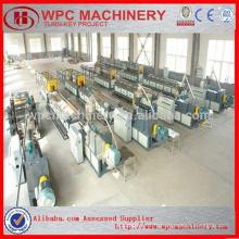 Copeaux de bois / granulés / sciure de bois / coquille de riz + PVC en poudre composite WPC PVC Machine de carton / mousse en PVC