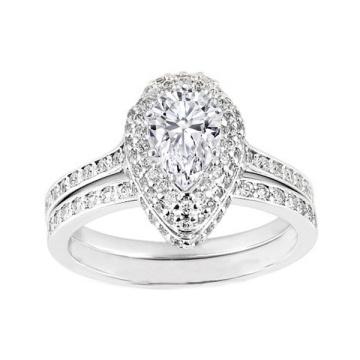 Bague de fiançailles en diamant à bijoux en or 925 en argent sterling en gros