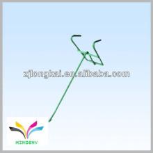 Fil métallique vert fonctionnel simple 1 collier collant accroché crochet d'affichage