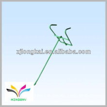Fio de metal verde funcional simples 1 peg pegboard suspenso pendurado