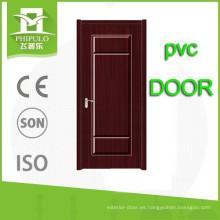 Puerta interior de madera del mdf del pvc de la calidad del hihg de la venta caliente de Zhejiang China