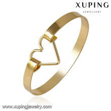 51616- Xuping Personalized brass jewelry bangle cuff design with heart