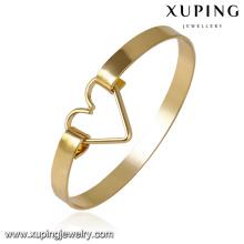 51616 - Xuping Персонализированные ювелирные изделия латунь браслет манжеты дизайн с сердцем