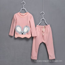 hot sale korea style girls boys fashion cloth set/cotton cloth suits