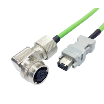 M19 right angle waterproof cable assembly