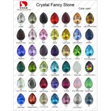Cartão de cor: ponta de pedra de cristal de fantasia