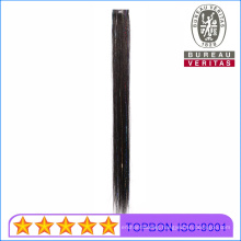 Synthetic Material Colordful Hair 1 Piece Dark Black Clip Hair Extension with Color Ribbon