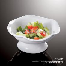 Plato de cerámica, tazón de porcelana