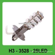 25 pcs 3528 SMD H3 base car led head lamp
