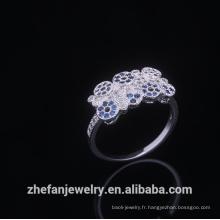 Mode Italienne Anneaux De Mariage Ronde Cristal Lady Jewel Or Bandes Fiançailles Gilf Pour Les Femmes rhodium plaqué bijoux est votre bon choix