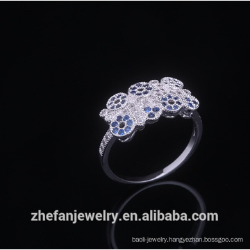 Fashion Italian Wedding Rings Round Crystal Lady Jewel Gold Bands Engagement Gilf For Women Rhodium plated jewelry is your good pick