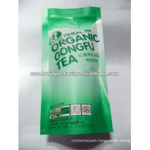 Organic Gongfu Green Tea Stand Up Packaging Bags