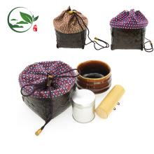 Paquet portatif standard japonais de voyage d'accessoires de Matcha de sac de voyage de bambou