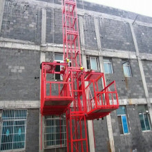 Ss100 / 100 1St Double Cage Construction Material Hoist