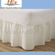 100% cotton plain cotton bed skirt with fitted sheet