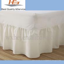 100% хлопок простой хлопок кровать юбка с простыней