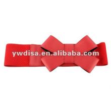Красный широкий эластичный для пояса решений с бантами