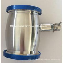 Válvula de retenção sanitá- ria de aço inoxidável tipo bola soldada com drenagem