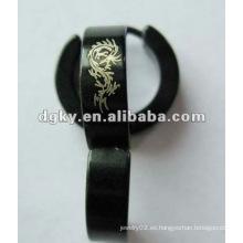 Venta al por mayor de accesorios personalizados de perforación humana de acero inoxidable de aceite doble falsa earings