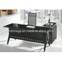 Modern Office Furniture Glass Steel Executive Desk (FOH-YTJ-8021)