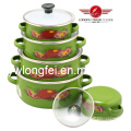 5PCS Hot Sale Porcelain Enamel Casserole Set