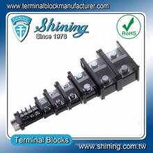 TE-010 35mm Din Rail Mounted AWG16 600V 10A Bus Bar Terminal Strip