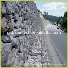 2016 malla de alambre hexagonal de venta caliente para la valla con piedras