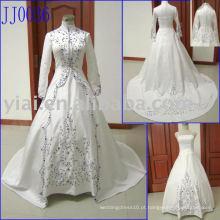 2010 New Arrival Elgant Vestido de casamento muçulmano real JJ0036