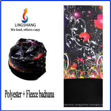 LINGSHANG cheap bandana print shirt pirate bandana polar fleece multifunctional bandana