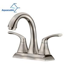 Aquacubic Brushed Nickel CUPC Centerset Wash Basin Mixer Faucet
