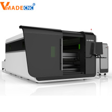 1000W Tempered Glass Covering Fiber Laser Cutting Machine