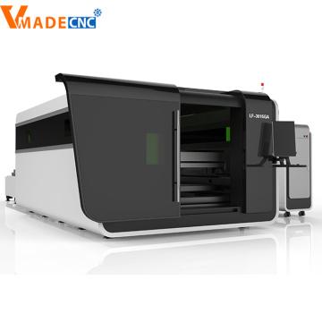 1000W Tempered Glass Covering Fiber Laser Cutting Machine