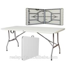Mesa dobrável portátil com 6 'retângulo HDPE mesa de plástico dobrável