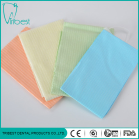 Tiga Ply Colorful Disposable Dengan Dasi Gigi Bib