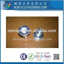 Taiwan Flat Pan Kopf Hex Drive Pin Offset Zink Platted Aluminium Standoff Special Flachkopf Niet Mutter Nieten
