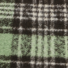 30% Lana 70% Poliéster Tejido de lana Mujer Cheques Prenda
