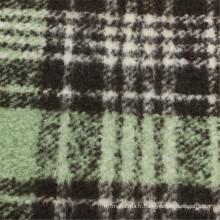 30% laine 70% Tissu en polyester en laine Femmes Checks Garment