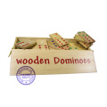 Double Six Professional Dominoes with Brass Spinner in Wooden Case 28 Piece