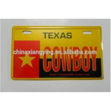 Custom Car Logo Metal Sticker Car Plate