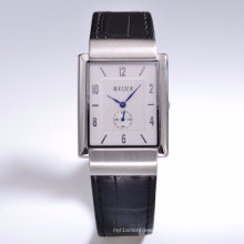 Unisex Leather Band High-End Wrist Watch with Swiss Movement