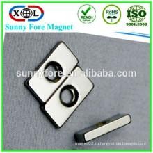блок магнит с отверстие для винта