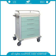 AG-Mt027 Cheap Beauty Power Coating Steel Medicine Trolley